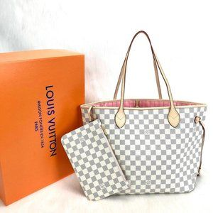 Louis Vuitton Neverfull MM %100 genuine leather